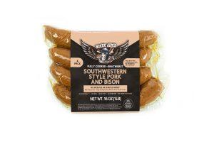 Biker Jim's southwestern style pork and bison sausage
