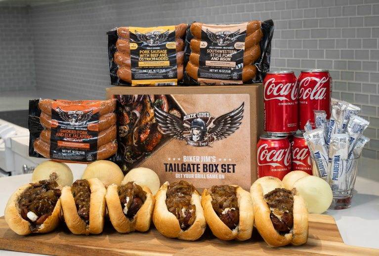 Biker Jim Gourmet Dogs Tailgate Party Box