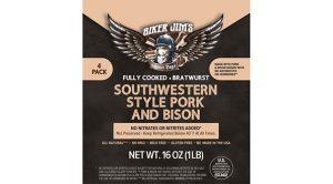 Biker Jim's Tailgate Box 1 Southwestern style pork and bison sausage